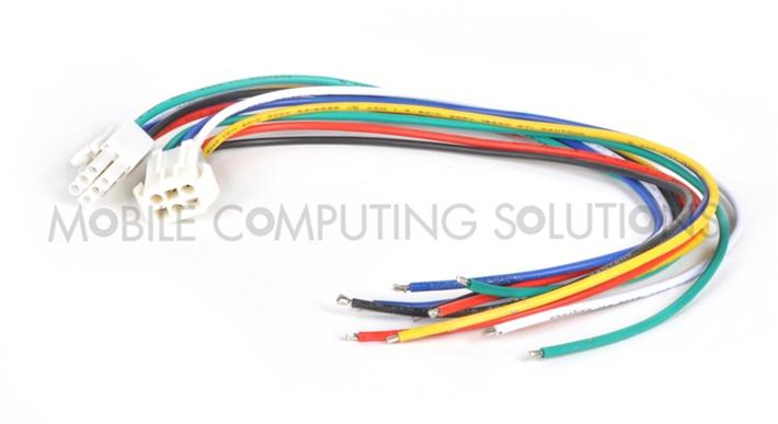 plastic 6 pin wiring harness black box mobile mini itx case