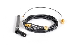 3dBi Wifi Antenna Kit with 2m/6' Extension, ipex to rpsma cable, and 3Dbi antenna