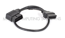 Right Angle OBD II OBD 2 Male to Female Extension Cable 60cm/2'